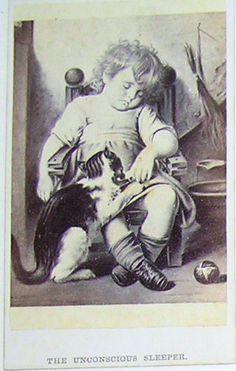 "1864 CDV CAT, Baby ""Unconscious Sleeper"" FANCY FILLER"