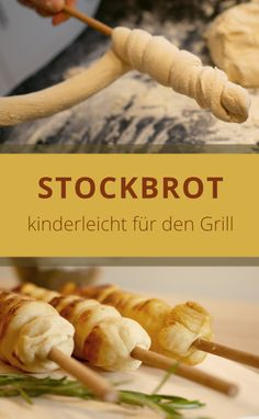 Stockbrot is an bread, an a glut or an of … - Lecker Schmecker Great Appetizers, Healthy Appetizers, Yummy Snacks, Appetizer Recipes, Healthy Snacks, Snack Recipes, Tostadas, Homemade Sauerkraut, Oven Vegetables