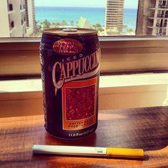Break time! Green Smoke e cigarette and an Iced Cappuccino Hawaiian style... #greensmoke #cappuccino #vaping #ecigs #ecigarette #coffee #ocean #hawaii #808 #greensmoke #cig #ecigarette #vape