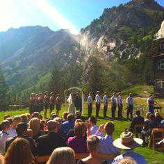 Peruvian lodge in alta, utah Wedding Venues Utah, Autumnal Equinox, Wedding Planning, Wedding Ideas, Dolores Park, Mountain Weddings, Lol, Romantic
