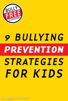 Bully free zone poster bullies are bad pinterest bullying 9 bullying prevention strategies for kids too many kids stay home from school every day publicscrutiny Choice Image