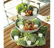 galvanized metal 3-tier stand - Pottery Barn