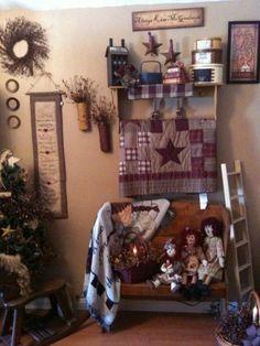 photo of primitive homes inside cave Primitive Homes, Primitive Living Room, Primitive Crafts, Country Primitive, Primitive Bedding, Primitive Bathrooms, Primitive Kitchen, Primitive Antiques, Primitive Christmas