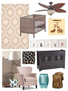 love this idea for an eclectic chic safari nursery!!