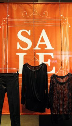 "SUPERSTAR ""Hanging Clothes"" SALE Window Display"