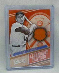2014 Classics Baseball Gil Hodges Game Used Jersey Card Serial #19/99 Dodgers #BrooklynLosAngelesDodgers