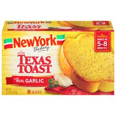 New York Bakery Garlic Texas Toast, 8 ct Bugles Recipe, Flat Top Griddle, Pink Candy Buffet, Shopping List Grocery, Grocery Store, Bakery Branding, Garlic Cheese Bread, Milk Ingredients, Texas Toast