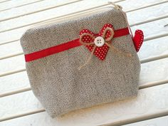 pochette tweed and polka dots