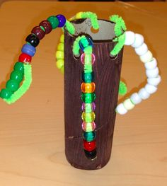 Stringing beads for a Chicka Palm Tree