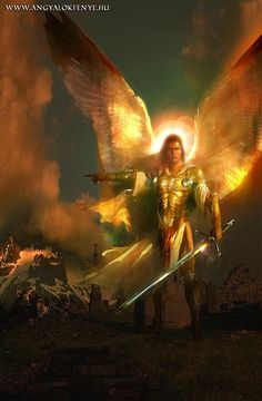Archangel Gabriel is known as the angel of revelation because God often chooses him to deliver important messages to people. If Gabriel visits you, you can be sure that God has something significant to say to you through Gabriel. Warrior Angel, Prayer Warrior, Goddess Warrior, St Michael, Michael Angel, Prophetic Art, Jesus Art, Fantasy Kunst, Fantasy Art