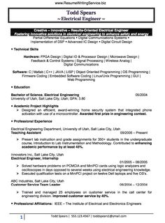 electrical engineer resume sample doc experienced creative