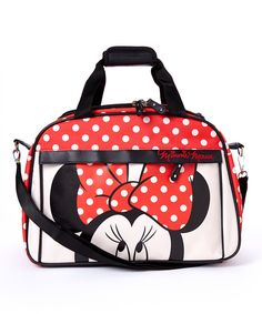 Look what I found on #zulily! Red Polka Dot Minnie Mouse Weekender Bag by Minnie Mouse #zulilyfinds
