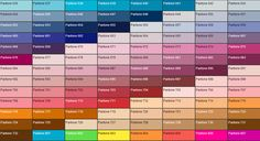 Pantone color chart for metal gifts from progifts manufacturing co ltd
