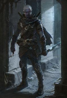 DarkElf Rogue by RainPark