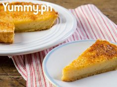 Classic Filipino EGG PIE. A slice of egg pie is perfect for an afternoon snack!