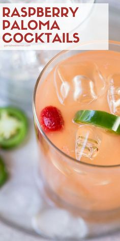 Hot, humid weather is no match for a pitcher of these refreshing Raspberry Paloma Cocktails. Our recipe puts a twist on the classic Mexican cocktail with the addition of sweet raspberries and spicy jalapeños. Batch Cocktail Recipe, Best Cocktail Recipes, Martini Recipes, Drinks Alcohol Recipes, Margarita Recipes, Drink Recipes, Cocktails Made With Rum, Mexican Cocktails, Easy Cocktails