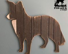 Animal Cutouts, Wood Animal, Animal Silhouette, Repurposed Wood, Blue Springs, Border Collie, Barn Wood, Custom Design, Art Pieces