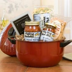 Gourmet Pasta Pot Dinner for 4, (gift basket, wine country gift baskets, gift idea, gourmet gift basket, thank you, mothers day, christmas, birthday, best wishes, congratulations)