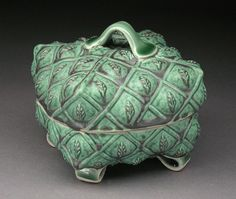 Green Leaf Covered Box by Margaret Bohls