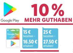 Lidl: 10 Prozent Guthaben geschenkt bei Google Play https://www.discountfan.de/artikel/tablets_und_handys/lidl-10-prozent-guthaben-geschenkt-bei-google-play.php Lidl gibt einen aus: Wer jetzt eine Guthabenkarte für Google Play beim Discounter kauft, erhält zehn Prozent Guthaben geschenkt. Die Aktion läuft noch bis Samstag. Lidl: 10 Prozent Guthaben geschenkt bei Google Play (Bild: Lidl.de) Die zehn Prozent Guthaben bei Google Play geschenkt gibt es nur... #App, #Gratis,