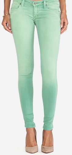Frankie B. Jeans My BFF Jegging in Grass. Ooh love this color