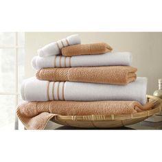 Found it at Joss & Main - 6-Piece Stripe Egyptian Cotton Towel Set - $32