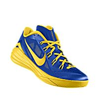 bf5a1f028bce I designed the photo blue Nike Hyperdunk 2014 Low iD men s basketball shoe  with tour yellow trim to support the San Jose State Spartans.