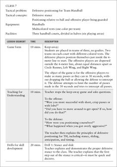 Cooperative Learning Lesson Plan Template for Physical Education ...