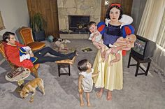 Blanche neige by Dina Goldstein  Whatever happened to Snow White after she married...