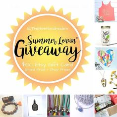 I'm very excited to announce that I've teamed up with 9 absolutely fabulous handmade shops for a fun loop giveaway! If you follow the rules and complete the loop, you'll have the chance to win up to 9 different prizes and an $100 Etsy Gift Card Grand Prize!!! I'm giving away A $20 store credit!!! ( free shipping in U.S.) To Enter: You MUST be following ALL of the accounts in the loop to qualify for any of the prizes, including the Grand Prize. (We'll be checking!) 1️⃣Like this photo…