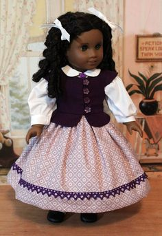 1850's Dress for Cecile or Marie Grace by BabiesArtUs on Etsy, $65.00