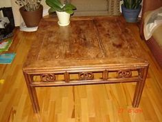 Coffee table made from an old large bellows board On Kijiji