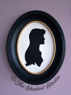 The Lady Amalthea from The Last Unicorn Hand-Cut Paper Silhouette