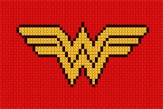Wonder Woman cross stitch from geek stitch