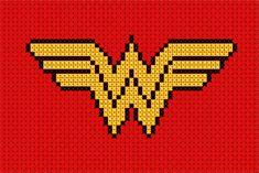Wonder Woman cross stitch from geek stitch