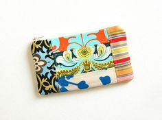 Patchwork Coin Purse, Change Pouch, Zipper Pouch, Ladies and Girls, Zip Wallet, Amy Butler Fabrics
