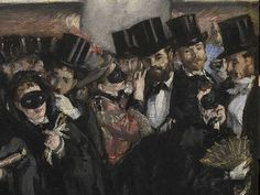The Ball of the Opera (Detail)*   -   Edouard  Manet  1873  French  1832-1883  Oil on canvas