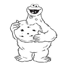 cookie monster coloring pages cookie monster eat cookie coloring pages - Baby Cookie Monster Coloring Pages