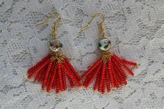 Check out this item in my Etsy shop https://www.etsy.com/listing/290490857/cloisonne-detail-beaded-tassel-earrings #tassel #fringe #earrings