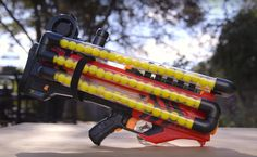 NERF Rival Zeus Mega Balls Mod<<I only saved this for one reason. That reason is I'm too immature. Nerf Mod, Nerf Krieg, Arma Nerf, Modified Nerf Guns, Cool Nerf Guns, Rifle, Minecraft Toys, Nerf Party, War Machine