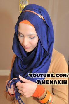 Belt in hijab.