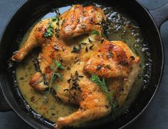 How to make a simple roasted chicken-- on a crazy-busy weeknight. Spatchcocked Skillet Roasted Chicken