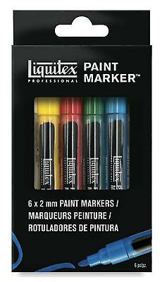 Liquitex Primary Colors Set of 6 Fine Tip - Professional Paint Markers
