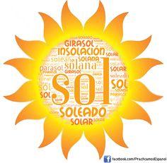 Nube de palabras del #sol | Más materiales en www.profedeele.es