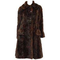 3d378ad90eeb41 1980 s Oscar de la Renta Multi Hued Brown Sable Fur Coat