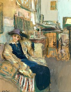 ÉDOUARD VUILLARD 1868-1940 Le Modèle Au Chapeau Violet