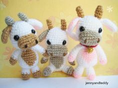 "I am so happy to share this free pattern cute amigurumi baby cow called ""Lolly"". Surely! everyone wil…"