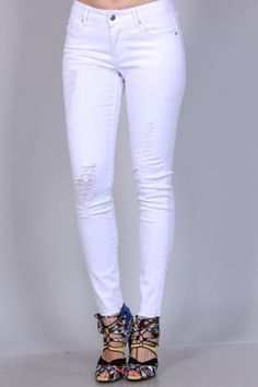 SOLID DISTRESSED SKINNY PANTS    98% COTTON, 2% SPANDEX    Super Soft and Comfortable    XS - XL | Shop this product here: http://spreesy.com/ddstallons/76 | Shop all of our products at http://spreesy.com/ddstallons    | Pinterest selling powered by Spreesy.com