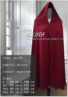 sweet * simple design by gamisnafeesa — Khimar Allura Single Allura, Simple Designs, Formal Dresses, Fabric, Model, Color, Sweet, Red, Fashion