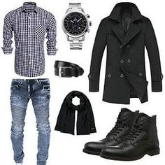 For some, mens winter fashion is king when it comes to coming up with unique styles and combinations. This is because this type of weather allows you to layer all kinds of outfits and even change outfits from day to night due to the differences in. Urban Fashion, Look Fashion, Winter Fashion, Mens Fashion, Mode Outfits, Casual Outfits, Fashion Outfits, Stylish Men, Men Casual